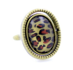 Vintage-punk-style-rotatable-double-sided-leopard-animal-print-black-resin-ring
