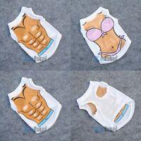 Summer Pet Dog Bikini Muscle Beach T-Shirt Vest Clothes Puppy Apparels XS/S/M/L