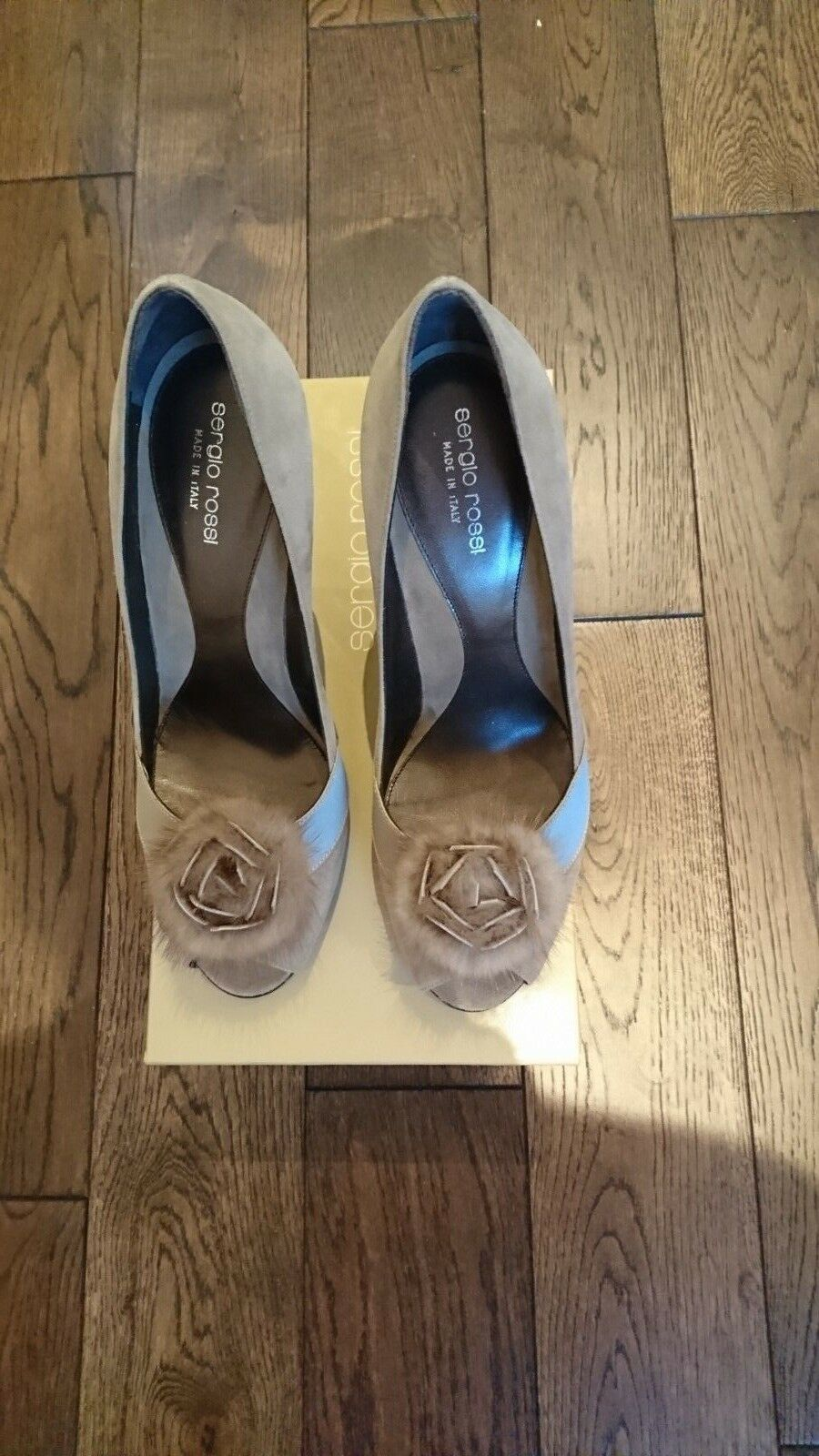Sergio Rossi Grey Mink Suede Pumps IT 40 or UK 7 rrp   800
