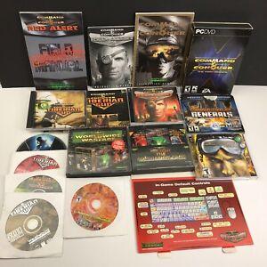 HUGE Command & Conquer PC Game Lot Red Alert 2 Tiberian Sun Generals Renegade