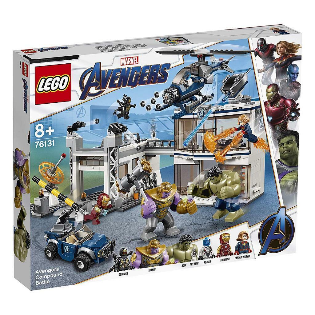 LEGO 76131 AVENGERS COUMPOUND BATTLE MARVEL HULK ANT  homme THANOS699 pieces nouveau  Style classique