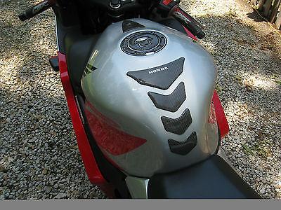 Honda CBR600RR  Real Carbon Fiber tank Protector pad & fuel cap cover +trim