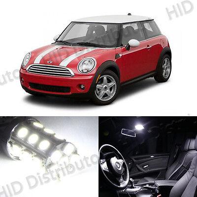 8-Bulb White LED Interior Light Package SMD Kit - Mini Cooper