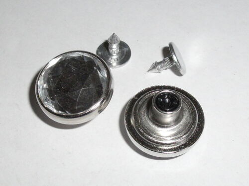 5 pièces Jeans boutons nietknöpfe bouton argent 18 mm Inoxydable Article neuf #953.2#