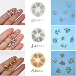 70Pcs-6mm-Alloy-Open-Jump-Ring-Lobster-Clasp-Hook-DIY-Jewelry-Making-With-Box