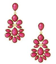 NWT Amrita Singh Real Housewives Nello Fuschia Resin Earrings ERC 02