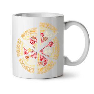 Pizza Slice Fast Mix Food NEW White Tea Coffee Mug 11 oz | Wellcoda