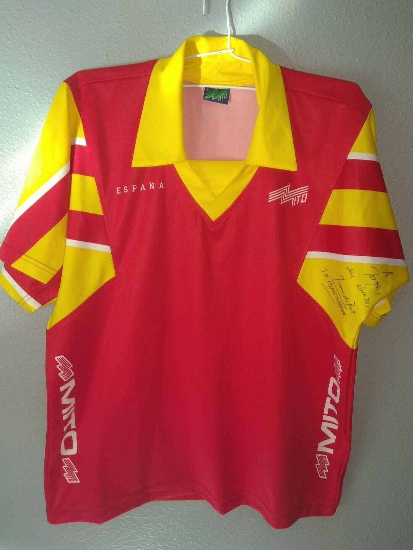 Camiseta firmada Juan De Dios Roman Seleccion Española Balonmano 1996 MITO