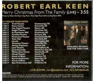 Robert Earl Keen Merry Christmas From The Family.Details About Robert Earl Keen Merry Christmas From The Family Live Rare 1 Tk Pr Cd Single