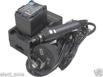 2X BP-820 Battery+Charger AC Wall Dual LCD for BP820 BP-828 BP828 VIXIA HF G20 G30 XA20 XA25 Camcorder 1.78A