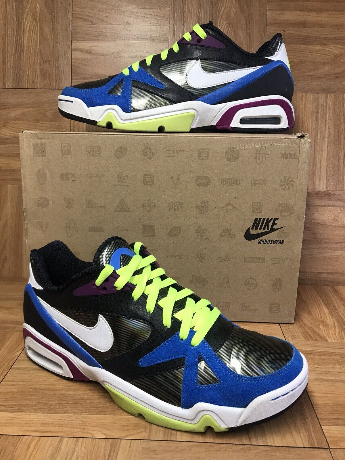 RARE Nike Hoop Structure Low LE HOH Sz 11 Silver Black Photo bluee 410704-046