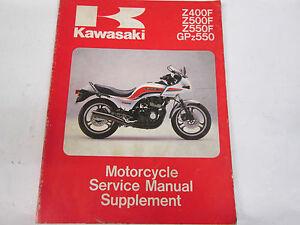 kawasaki z400f z500f z550f gpz550 supplement service manual 99924 rh ebay ie 1982 Kawasaki GPZ Kawasaki GPZ 1100