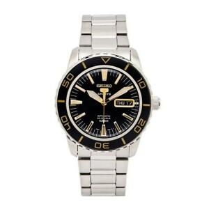 Seiko-5-Automatic-Black-Dial-Stainless-Steel-Mens-Watch-SNZH57K1-RRP-329