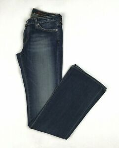 AG-Adriano-Goldschmied-The-Angel-Boot-Cut-Jeans-Size-27-Dark-Blue-Denim-Stretch