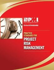 Practice Standard for Project Risk Management by (AU Project Management Institute (2009, Paperback)