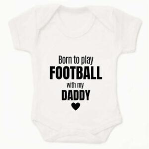 PERSONALISED Baby grows Baby vest UNISEX FOOTBALL