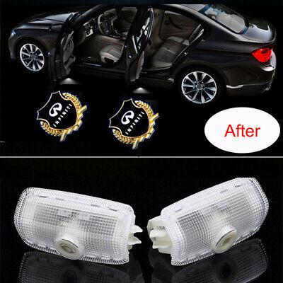 Car LED Door Logo Lights projector Shadow Ghost Emblem Welcome Light for Infiniti FX50 G25 G37 Q50 Q60 M25 M35 M37 M56 EX25 QX50 QX56 QX70 QX80 Auto Accesories 2PCS