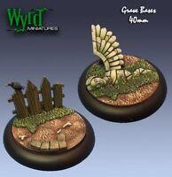 Graveyard 40mm Base Inserts Malifaux Wyr0004 (2 Pack) Wyrd Accessories