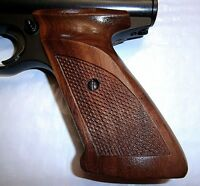 Checkered Walnut Wood Grips Lacquered Standard Ambi For Crosman 2240 1377 Etc.