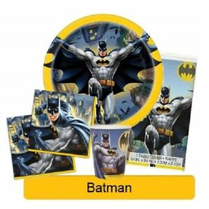 BATMAN-Birthday-Party-Range-Tableware-Balloons-amp-Decorations-DC-Heroes-Unique