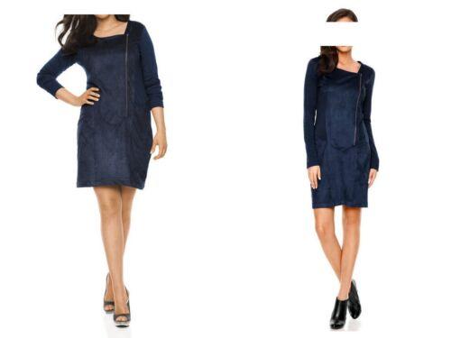 HEINE B.C.- Außergewöhnliches Patch-Kleid-Stoffmix-Hingucker!-blau-Gr. 34-52