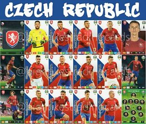 PANINI-ADRENALYN-XL-UEFA-EURO-2020-CZECH-REPUBLIC-FULL-18-CARD-TEAM-SET-EUROS