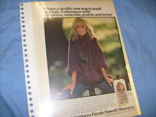 Farrah Fawcett Shampoo ad plus People magazine cover 1977 rare    / b5