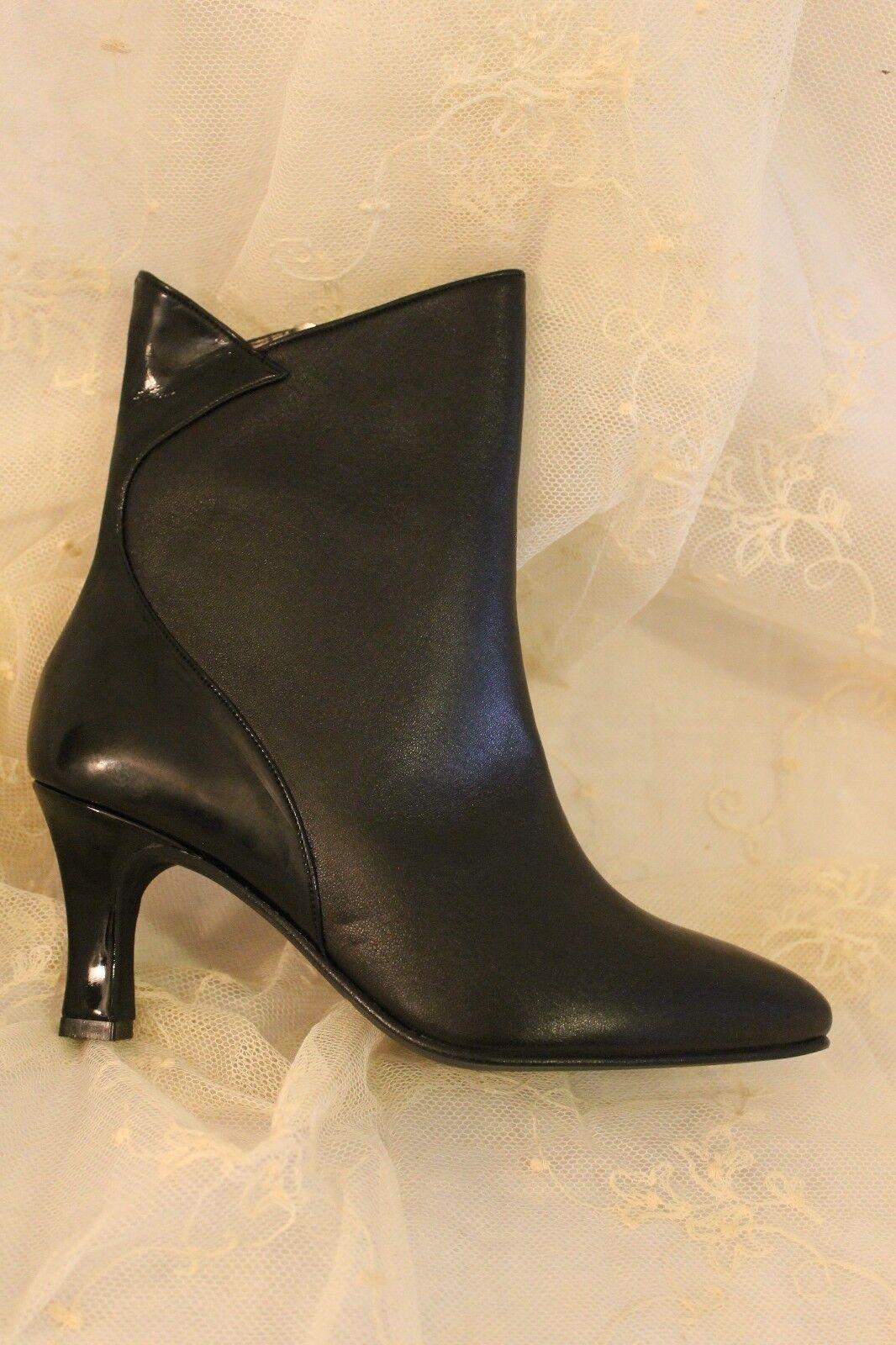 Elegante Damen Stiefeletten echt Leder schwarz schwarz schwarz Gr. 37 Lack neu OVP   931728