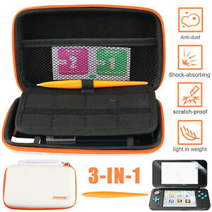 Case-For-Nintendo-2DS-XL-LL-Hard-Protective-Carrying-Bag-Screen-Protector-Film