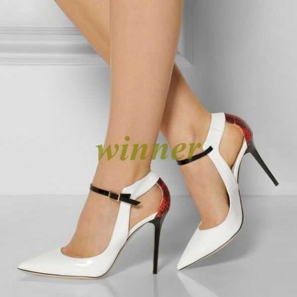 Sexy Donna Pointed Toe High Heel Stilettos Buckle Strap Pelle Sandals Shoes_s