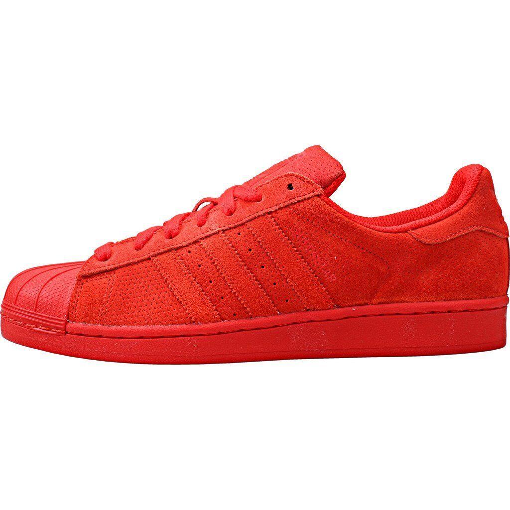 Adidas originali uomini scarpe rosso s79475 una superstar)