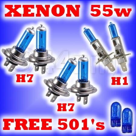 55w Xenon Faros bombillas Peugeot 206cc 01-on h7h7h1