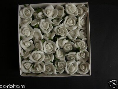 36 SELFADHESIVE ROSE HEAD.RED,WHITE,PINK AND MORE. FOR ALL CRAFTS AND DECORATION