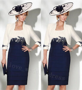 cheaper hot new products highly coveted range of Details about Lace Mother Of the Bride Dress Blue Wedding Guest Outfit  Jacket Plus Size 6-30