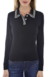 GUESS-JEANS-PULL-FIN-AVEC-COL-STRASSE-W94R90-NOIR-FEMME
