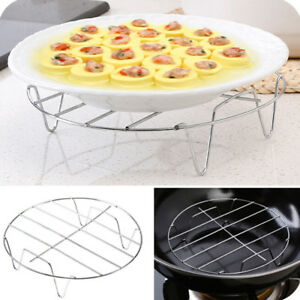 Multi-functional Stainless Steel Steam Rack Stand Steamer Basket for Dish Q