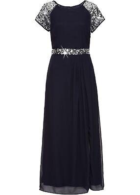 abendkleid gr 38 dunkelblau damen maxikleid partykleid cocktailkleid neu  ebay