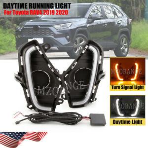 Daytime Running Turn Signal Lamp For Toyota RAV4 2019 2020 DRL Fog Light Kit LED
