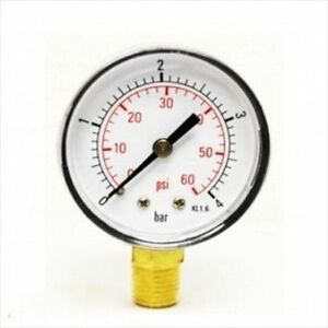 Replacement end pressure gauge for swimming pool water - Swimming pool filter pressure gauge ...