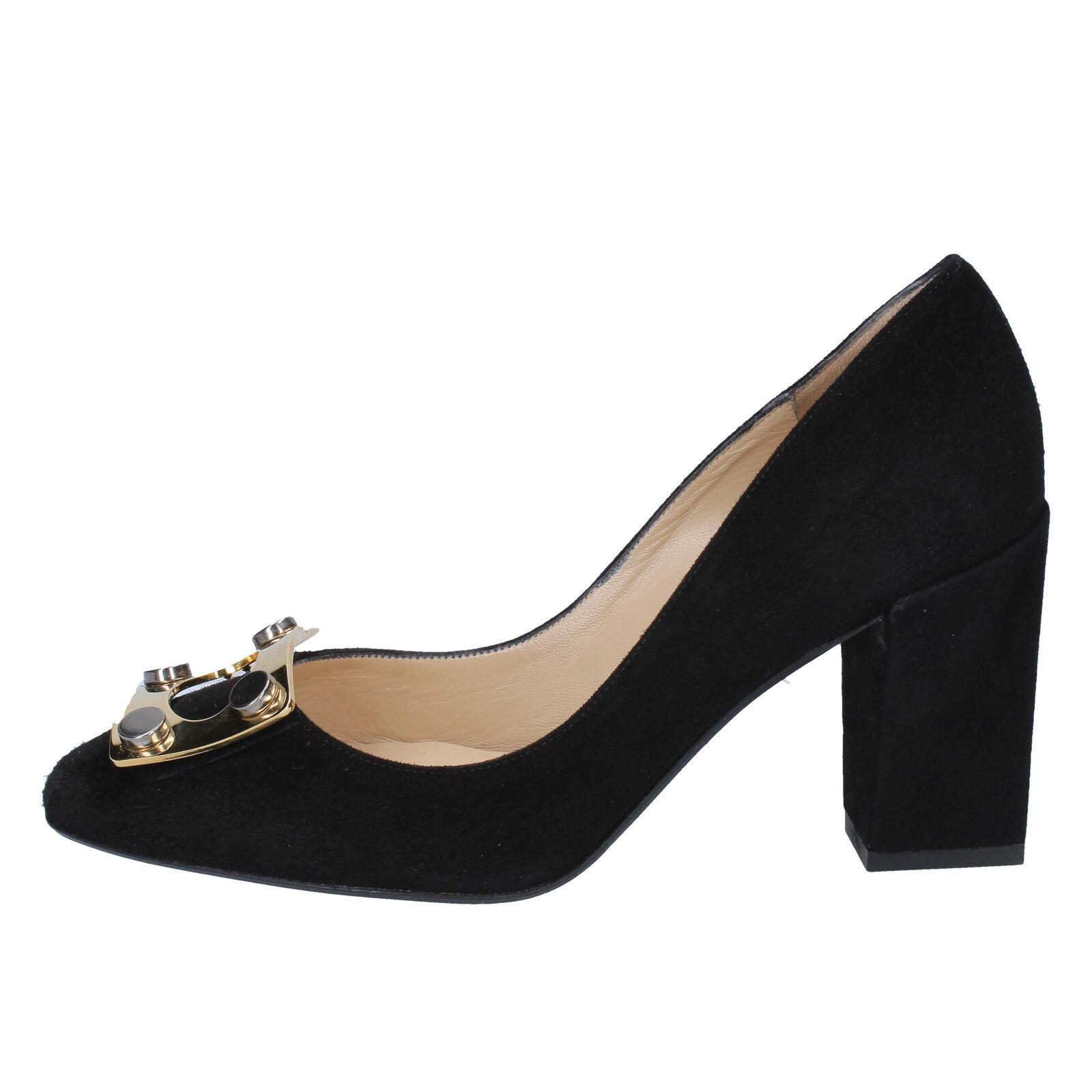 Femme Chaussures Gianni Marra 3,5 (UE 36,5) tribunaux en daim noir BX78-36, 5