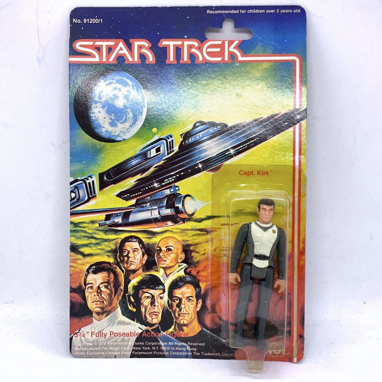 Mego Corp Star Trek Capt. Kirk 3 3 4  Poseable Action Figure - 1979