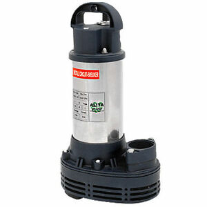 Alita aup 400 series submersible pond water pump 1 2 hp ebay for Best rated pond pumps