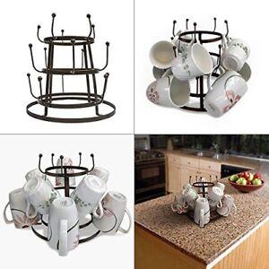 Image Is Loading Mug Tree Holder Coffee Cup Tea Drying Rack