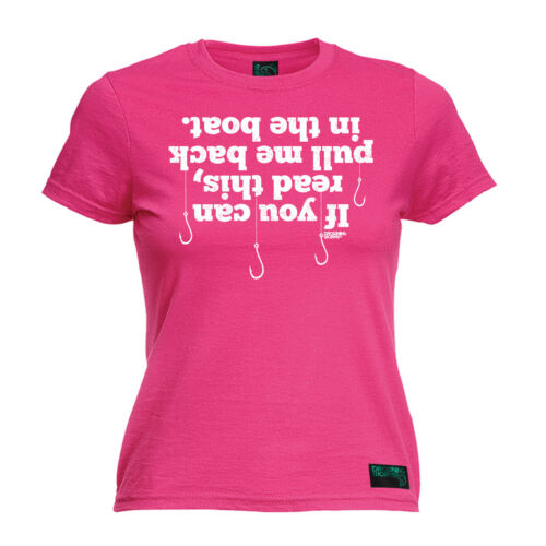 If You Can Read This Back In Boat WOMENS T-SHIRT Fishing Funny Gift birthday