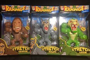Rampage Arcade Classic Set Of 3 Super Stretch George Ralph Lizzie