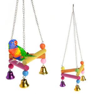 Pet-Bird-Parrot-Parakeet-Budgie-Cockatiel-Cage-Hammock-Swing-Stand-Hanging-Toys