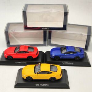 1-43-Norev-Ford-Mustang-GT-2014-2015-Diecast-Fluorescent-Orange-Blue-Yellow