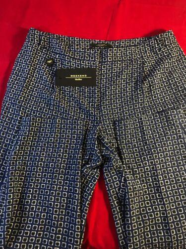 Uk10 £ Weekend 165 8028993287811 Geometrico Regalo Pantalone Maxmara Donna Bnwt Rrp Blue BYw1qd8