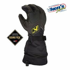 KLIM-Black-FUSION-GORE-TEX-Winter-Snowmobile-Gloves-Non-Current-3087-000-000