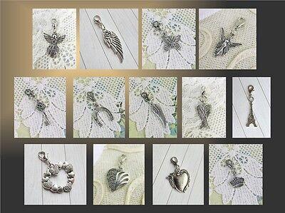Anhänger für Armband, Kette, Tasche,Schutzengel,Engelsflügel,Herz,Schmetterling